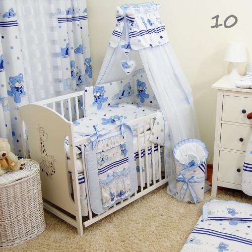 14 częściowa pościel do łóżeczka - dmuchawiec niebieski