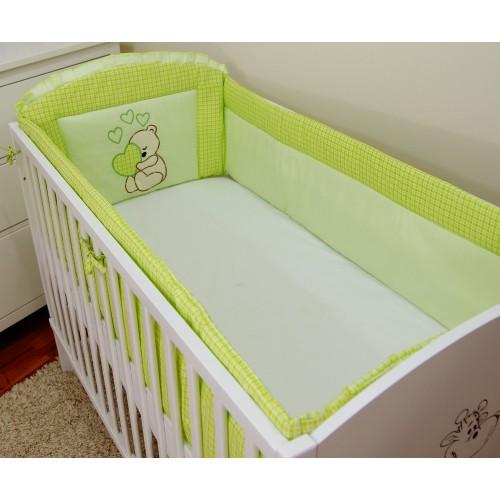 Ochraniacz dookoła łóżeczka 60x120 zielony