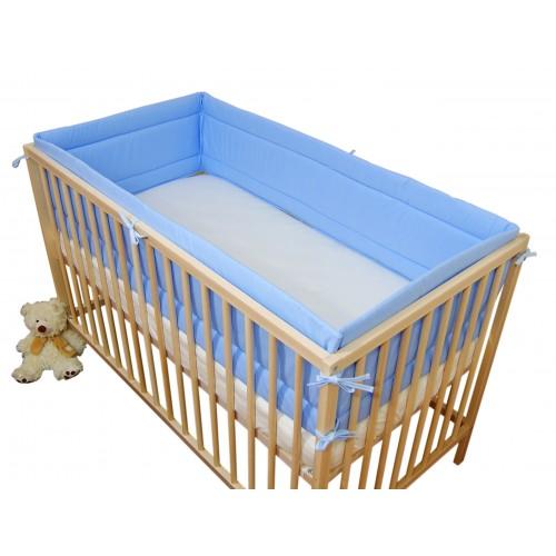Ochraniacz Niebieski dookoła łóżeczka dziecięcego