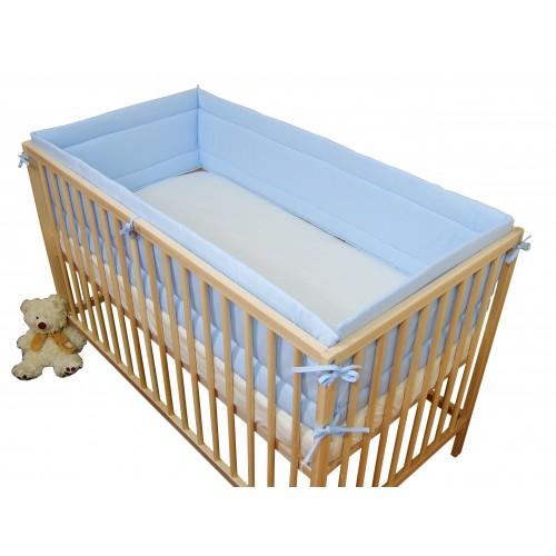 Ochraniacz dookoła łóżeczka Błękitny