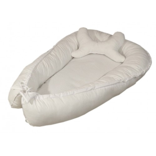 Biały otulacz dla niemowląt