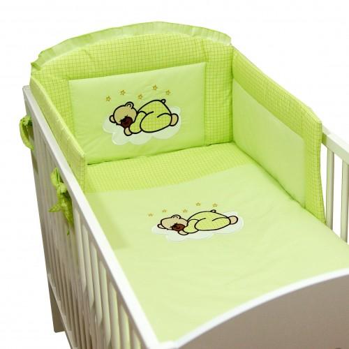 Zielona pościel niemowlęca Miś na Chmurce