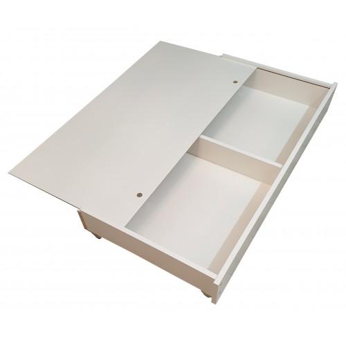 Łóżeczko białe z szufladą