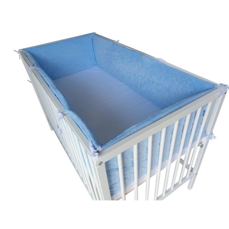 Ochraniacz dookoła łóżeczka 360x30cm Velvet Szary
