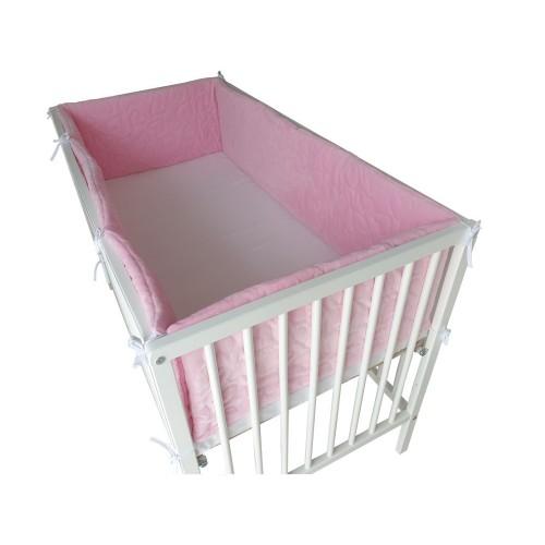 Ochraniacz 420x30cm - dookoła łóżeczka Velvet Niebieski
