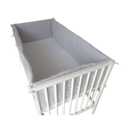 Ochraniacz 420x30cm - dookoła łóżeczka Velvet Różowy