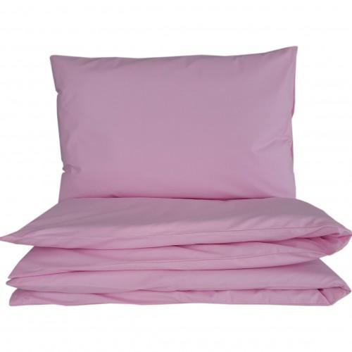 Różowe poszewki do łóżeczka - gładkie