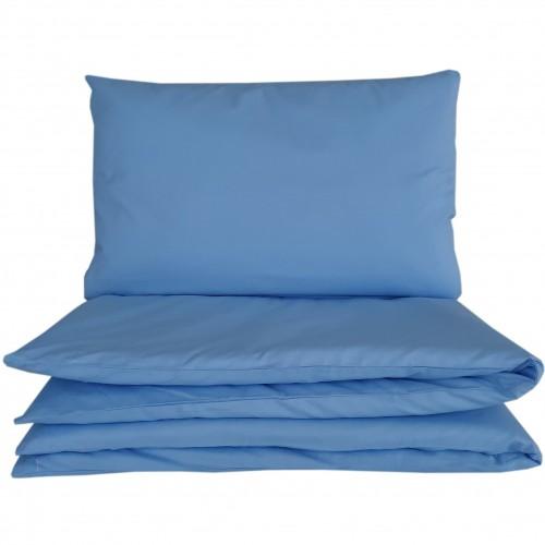 Niebieskie poszewki do łóżeczka - gładkie