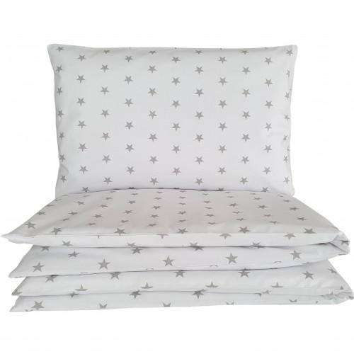 Poszewki do łóżeczka we wzorze gwiazdek na białym tle