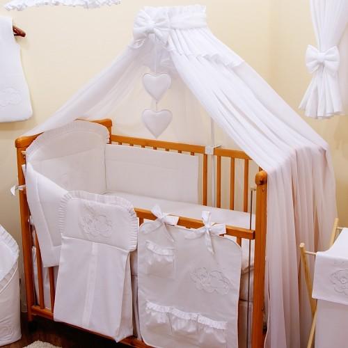Biała moskitiera do łóżeczka