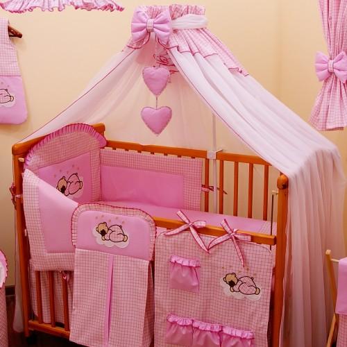 Moskitiera dla dziecka Różowa