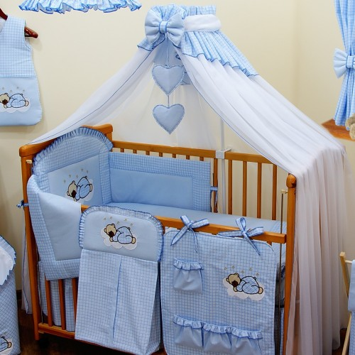 Niebieska moskitiera do łóżeczka - Bello
