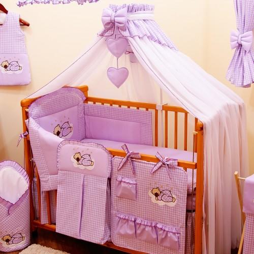 Moskitiera do łóżeczka fioletowa