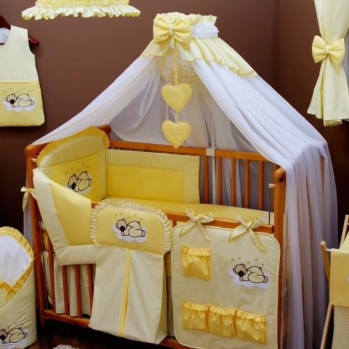 Moskitiera do łóżeczka żółta - Bello