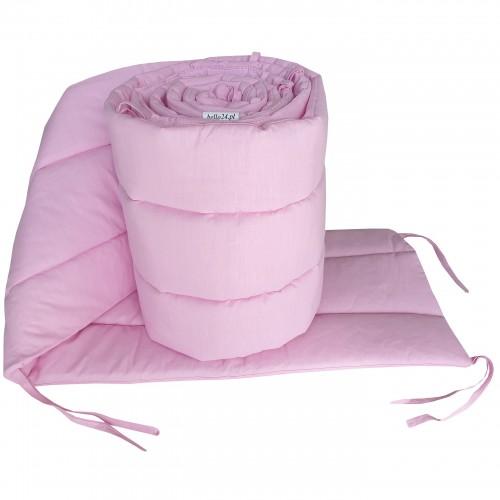 Różowy ochraniacz do łóżeczka