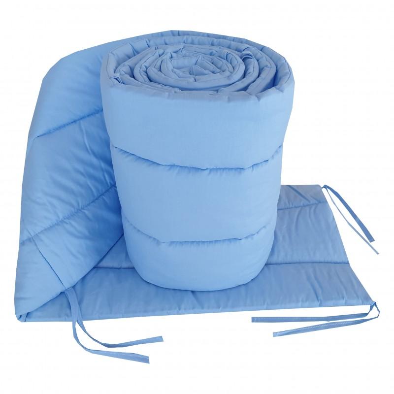 Ochraniacz Niebieski do łóżeczka dziecięcego