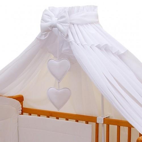 Biały baldachim do łóżeczka