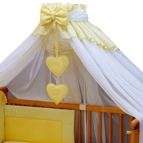 Baldachim do łóżeczka Żółty