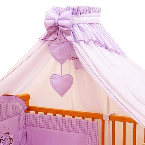 Baldachim fioletowy do łóżeczka Bello