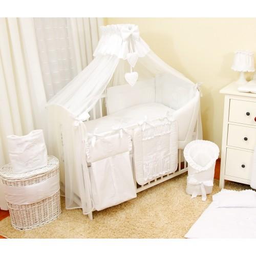 Moskitiera do łóżeczka z Sercami - biały