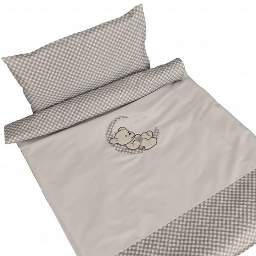 2el. Poszewki do łóżeczka z haftem - Miś na Księżycu