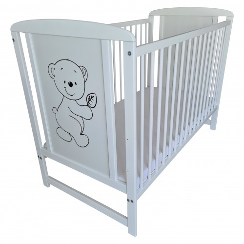 Łóżeczko dla niemowląt - białe