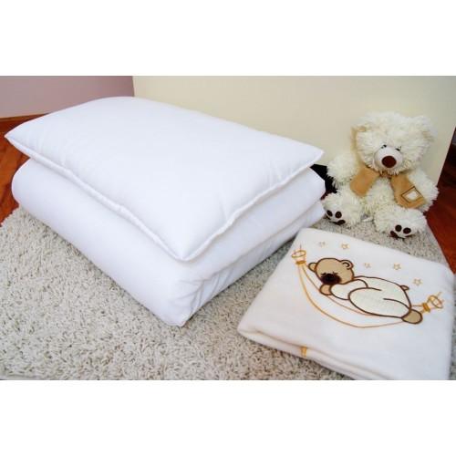 Kołderka i poduszka do łóżeczka. Wypełnienie 100x135cm - Nie pikowane