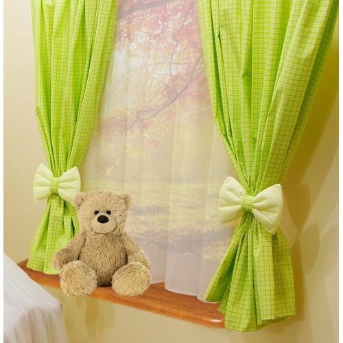 Zasłony okienne dla dziecka zielone