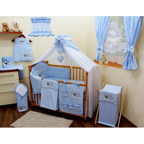 Zasłonki niebieskie do pokoju dziecięcego