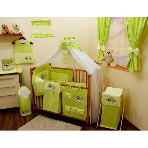Zasłony dla dziecka zielone w kratkę