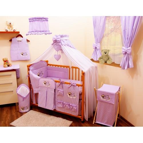 Zasłony do pokoju dziecka w kolorze fioletowym
