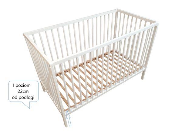 Białe łóżeczko z szufladą dla dzieci