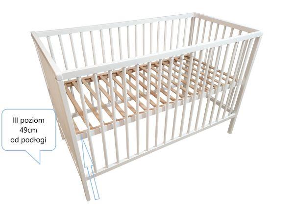 Dziecięce łóżeczko z szufladą białe