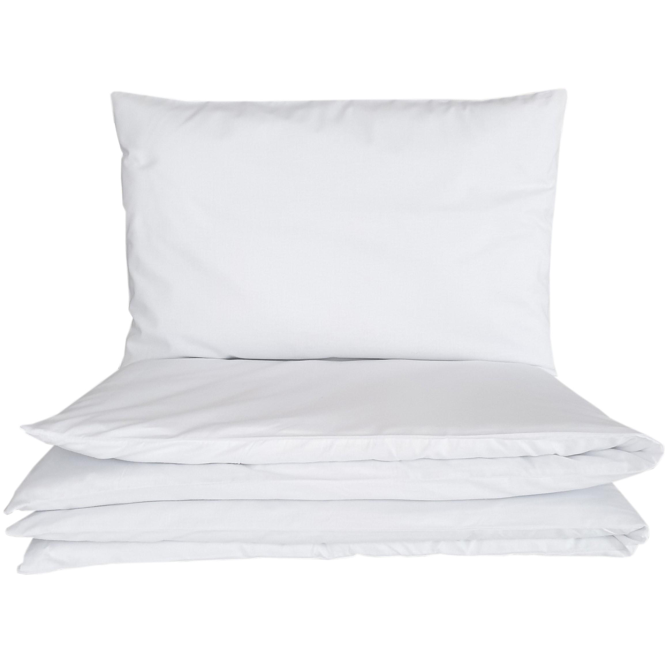 Pościel do łóżeczka biała, bawełniana